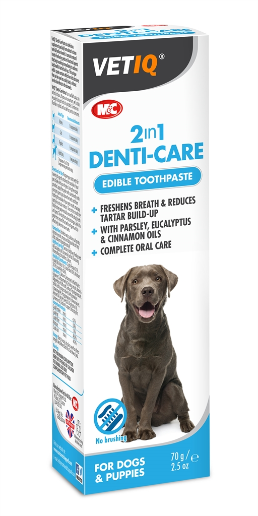 Image of   VetIQ Denti Care oral hygiejne behandling til hund og kat 2 i 1 Pasta 70g