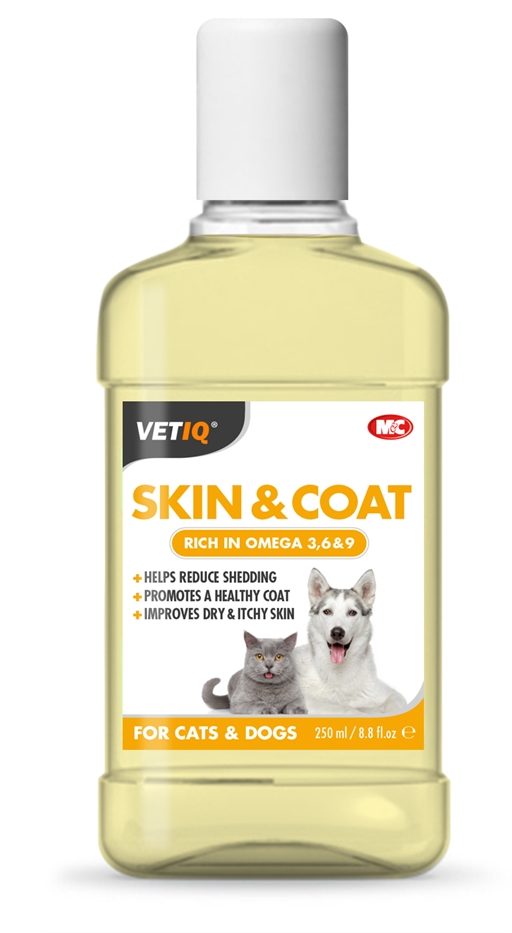 Image of   VetIQ Sheen UM Oil pels conditioner til hunde og hvalpe 250ml